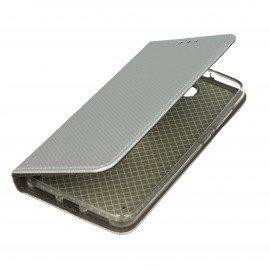 Etui boczne z klapką magnet book Huawei Y5 II srebrny