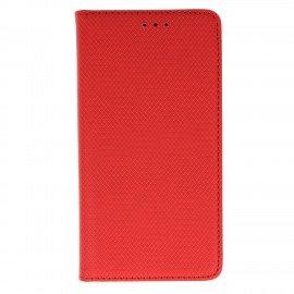 Etui z funkcją podstawki Magnet Book na telefon LG K10 2017 M520n czerwony
