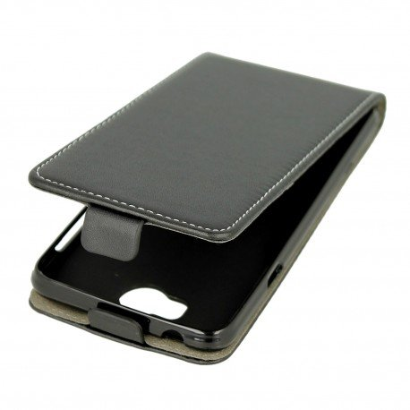 Etui z klapką Flexi do telefonu Huawei Y6 II Compact czarny