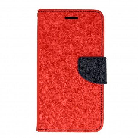 Etui portfelowe Fancy na telefon Huawei Y6 II Compact czerwony