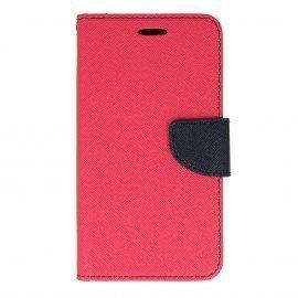 Etui portfelowe Fancy na telefon Huawei Y6 II Compact różowy