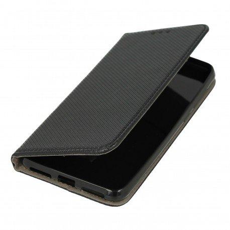 Etui boczne z klapką magnet book Huawei Y6 II Compact czarny
