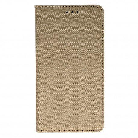 Etui z funkcją podstawki Magnet Book na telefon LG K10 2017 M520n złoty