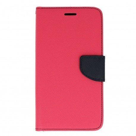 Etui portfelowe Fancy na telefon Huawei Y6 II różowy