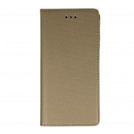 Etui boczne z klapką magnet book Huawei Y6 II złoty