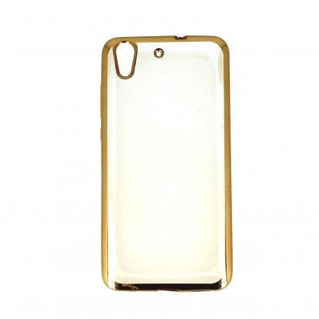 Etui nakładka na telefon Clear Case do Huawei Y6 II złoty