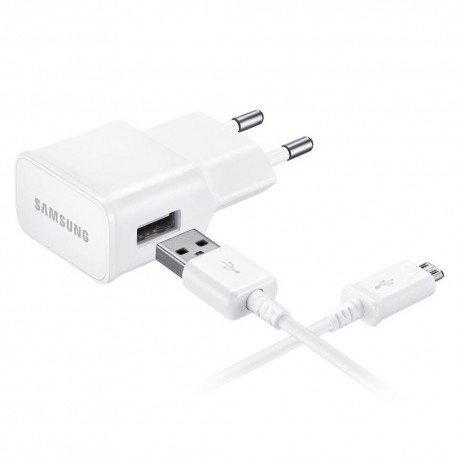 Oryginalna ładowakra sieciowa Samsung EP-TA50EWE+DCU4AWE 1,55A z odpinanym kablem Micro USB