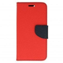Etui portfelowe Fancy na telefon Huawei Nova czerwony
