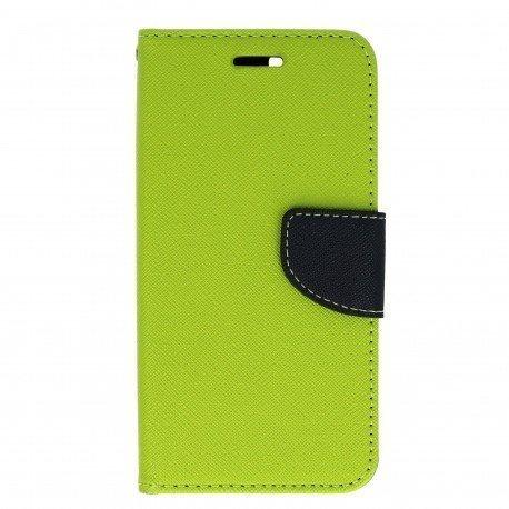 Etui portfelowe Fancy na telefon Huawei Nova zielony