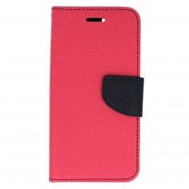 Etui portfelowe Fancy na telefon Huawei Nova różowy