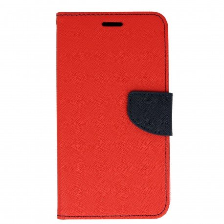 Etui portfelowe Fancy na telefon Huawei Nova PLUS czerwony