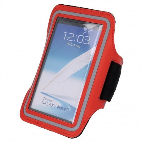 Etui do biegania na ramię iPhone 5 czerwony