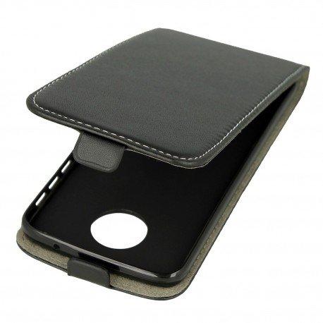 Etui z klapką Flexi do telefonu Lenovo Moto Z Play czarny