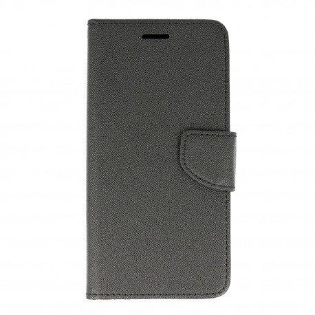 Etui portfelowe Fancy na telefon Lenovo Moto Z Play czarny