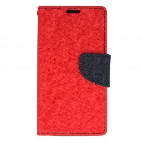 Etui portfelowe Fancy na telefon Lenovo Vibe K5 czerwony