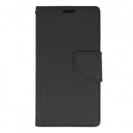 Etui portfelowe Fancy na telefon Lenovo Vibe K5 czarny