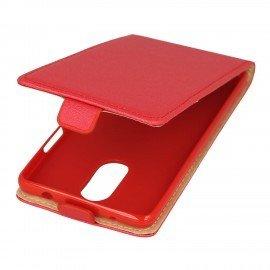 Etui z klapką Flexi do telefonu Lenovo K6 Note czerwony