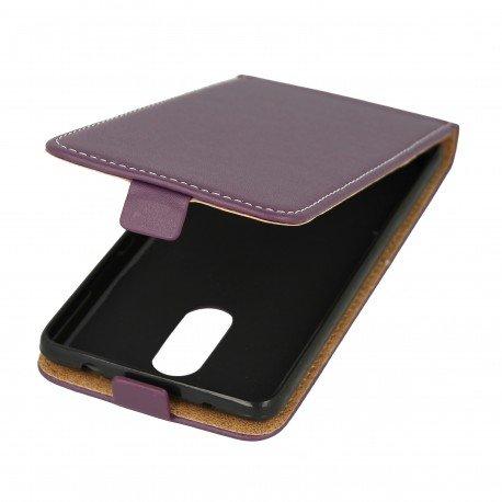 Etui z klapką Flexi do telefou Lenovo K6 Note fioletowy