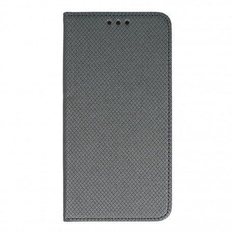 Etui boczne z klapką magnet book Samsung Galaxy J3 2016 J320F stalowy