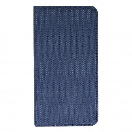 Etui boczne z klapką magnet book Lenovo K6 Note granatowy