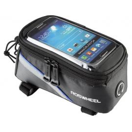 Sakwa uchwyt rowerowy na telefon/smartfona 4.8-5.0 cali niebieska