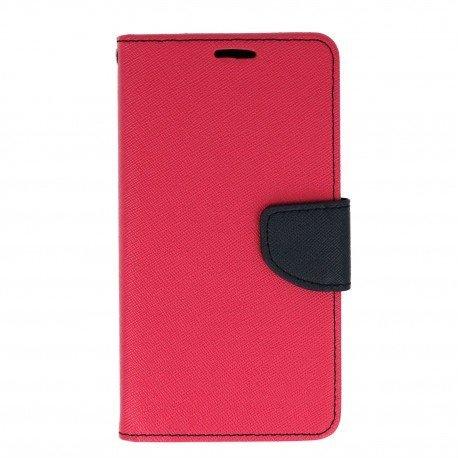 Etui portfelowe Fancy na telefon LG K10 2017 M520n różowy