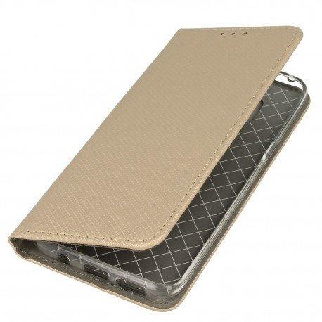 Etui boczne z klapką magnet book Samsung Galaxy S8 złoty