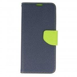 Etui portfelowe Fancy na telefon Samsung Galaxy S8 Plus granatowy