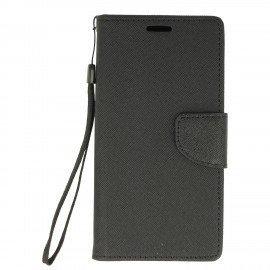 Etui portfelowe Fancy na telefon Samsung Galaxy Xcover 4 G390F czarny