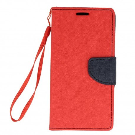Etui portfelowe Fancy na telefon Samsung Galaxy Xcover 4 G390F czerwony