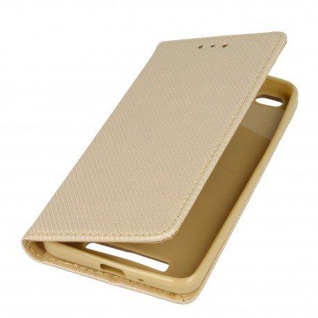 Etui boczne z klapką magnet book Xiaomi Redmi 4A złoty