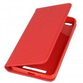 Etui boczne z klapką magnet book Xiaomi Redmi 4A czerwony