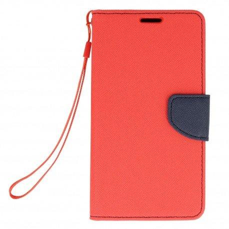 Etui portfelowe Fancy na telefon Xiaomi Redmi Note 4 czerwony