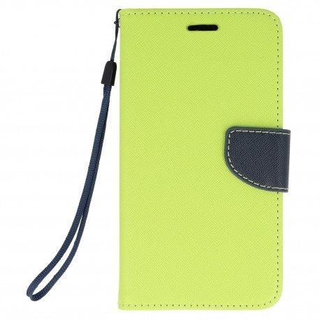 Etui portfelowe Fancy na telefon Xiaomi Redmi Note 4 limonka