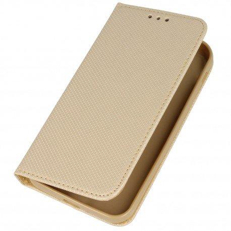 Etui boczne z klapką magnet book Samsung Galaxy Xcover 4 G390F złoty