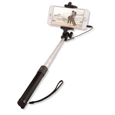 Uniwersalny Uchwyt selfie stick z pilotem w rączce do telefonu czarny