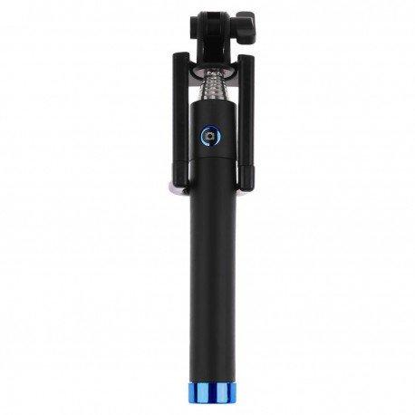 Uniwersalny Uchwyt selfie stick z pilotem na Bluetooth do telefonu niebieski