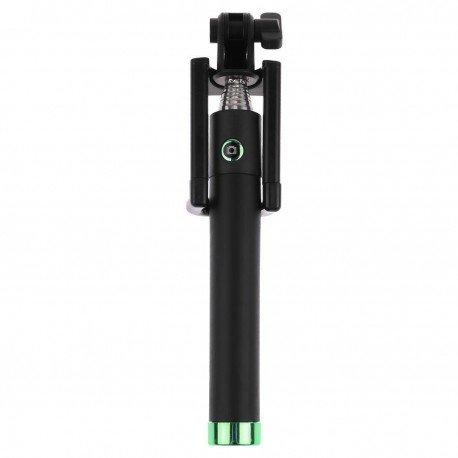 Uniwersalny Uchwyt selfie stick z pilotem na Bluetooth do telefonu zielony