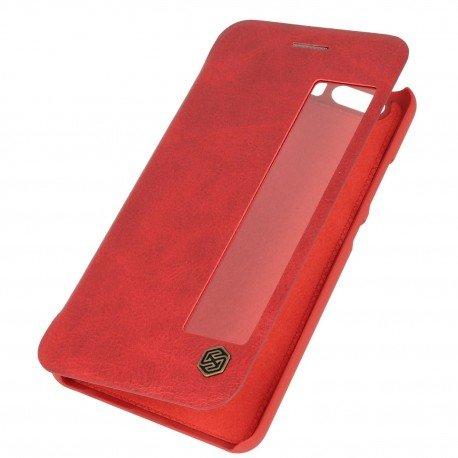 Etui boczne z klapką Nillkin QIN do Huawei P10 czerwony