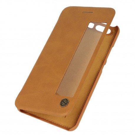Etui boczne z klapką Nillkin QIN do Huawei P10 brązowy