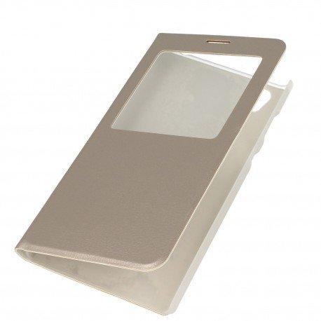 Etui S-View z funkcją podstawki do Sony Xperia L1 złoty