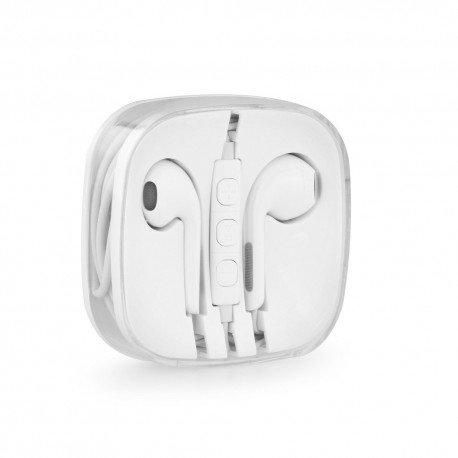 Słuchawki BOX z mikrofonem do telefonu białe