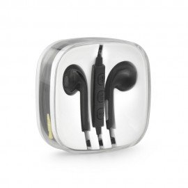 Słuchawki BOX z mikrofonem do telefonu czarne
