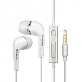 Oryginalne słuchawki Samsung EHS-64 z mikrofonem do telefonu białe