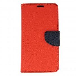Etui portfelowe Fancy na telefon LG K4 2017 czerwony