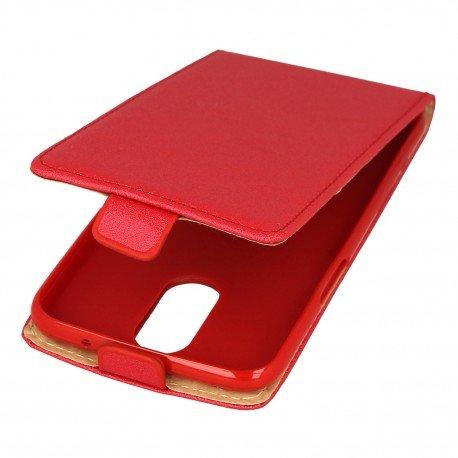 Etui z klapką Flexi do telefonu LG K4 2017 czerwony