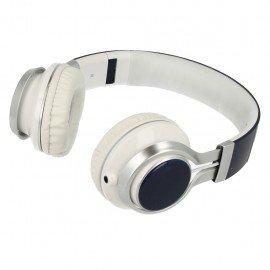 Słuchawki nauszne z mikrofonem Extra Bass do telefonu granatowe