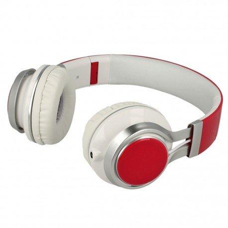 Słuchawki nauszne z mikrofonem Extra Bass do telefonu różowe