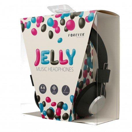 Słuchawki nauszne z mikrofonem Jelly do telefonu czarne