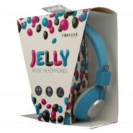 Słuchawki nauszne z mikrofonem Jelly do telefonu niebieskie